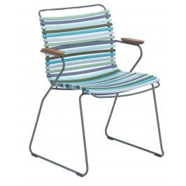 Modrozelená plastová zahradní židle HOUE Click s područkami