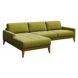 Zelená čalouněná rohová pohovka MESONICA Musso Tufted, levá, 248 cm