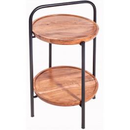 Moebel Living Masivní odkládací stolek Talomi 33cm
