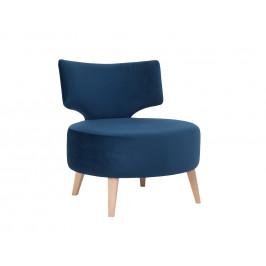 Nordic Design Modré sametové křeslo Full