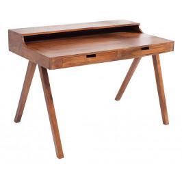 Moebel Living Přírodní masivní pracovní stůl Etesia 120 cm