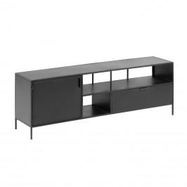 Černý kovový TV stolek LaForma Shantay 150x50 cm