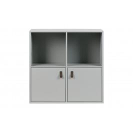Hoorns Cementově šedá dřevěná skříň Inara L 81 x 35 cm