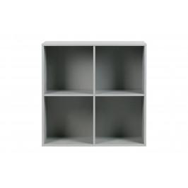 Hoorns Cementově šedý dřevěný regál Inara L 81 x 35 cm