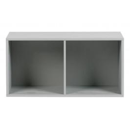 Hoorns Cementově šedý dřevěný regál Inara M 81 x 35 cm