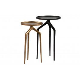 Hoorns Set dvou kovových odkládacích stolků Beetle 30/35 cm