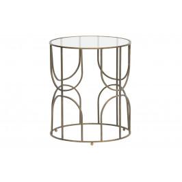 Hoorns Mosazný kovový kulatý odkládací stolek Antique 44 cm