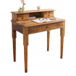 Moebel Living Přírodní dřevěný pracovní stůl Melody 90x50 cm