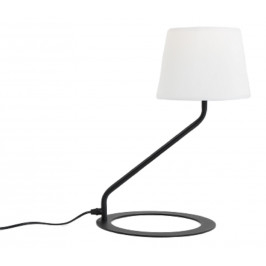 Nordic Design Černá kovová stolní lampa Shadow s bílým stínidlem