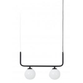 Nordic Design Černé kovové závěsné světlo Cattus 2