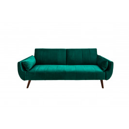 Moebel Living Zelená sametová pohovka Diva 210 cm