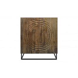 Moebel Living Masivní mangová komoda Lincoln 100 x 45 cm