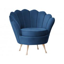 Concept design Modré sametové křeslo Crown