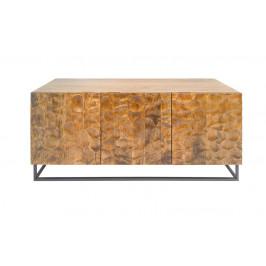Moebel Living Masivní mangová komoda Wolman 160 x 45 cm