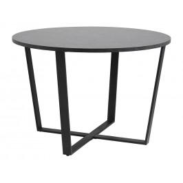 SCANDI Černý mramorový kulatý kovový jídelní stůl Calvin 110 cm