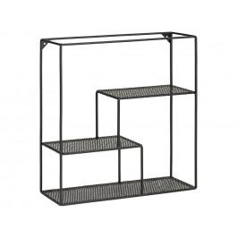 SCANDI Černý kovový regál Daja 50 cm