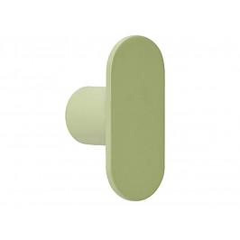 Světle zelený kovový věšák Hübsch Knob