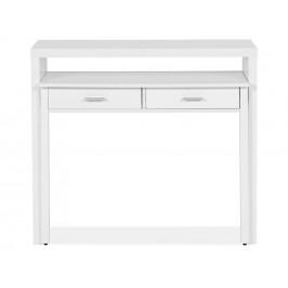 Bílý pracovní stůl Woodman Console I. 100x36 cm