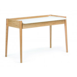 Bílý dubový pracovní stůl Woodman Feldbach 126x60 cm
