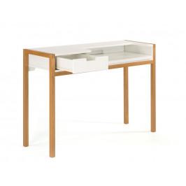 Bílý dubový pracovní stůl Woodman Farringdon 122x43 cm