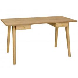 Přírodní dubový pracovní stůl Woodman Oak 140x70 cm