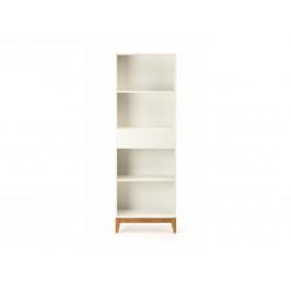 Bílá dřevěná knihovna Woodman Blanco 180 cm