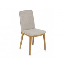 Béžová čalouněná jídelní židle Woodman Adra