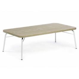 Dubový konferenční stolek Woodman Ashburn 125x65 cm s bílou podnoží