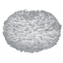 UMAGE Světe šedé závěsné světlo Eos XL z pravých husích per Ø 75 cm