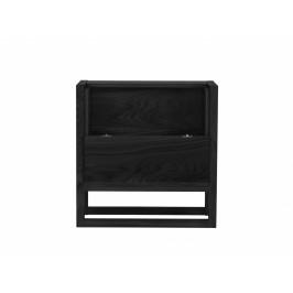 Černá dubová vinotéka Woodman NewEst 59x30 cm