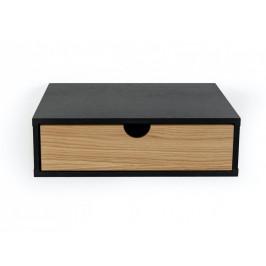 Černý dubový noční stolek Woodman Farsta
