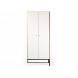 Bílá dubová skříň Woodman Mia 80x55 cm