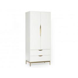 Bílá šatní skříň Woodman Kobe 80x55 cm