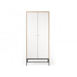 Bílá dubová skříň Woodman Lia 80x55 cm