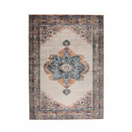 Modrý koberec s orientálními vzory DUTCHBONE Mahal 200x30 cm