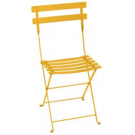 Žlutá kovová skládací židle Fermob Bistro