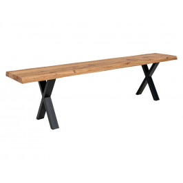 Přírodní dubová lavice Nordic Living Tolon 180 cm