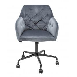 Moebel Living Šedá sametová kancelářská židle Goja