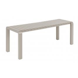 Jílová kovová zahradní lavice ZUIVER VONDEL 129,5 x 45 cm