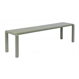 Zelená kovová zahradní lavice ZUIVER VONDEL 175 x 45 cm