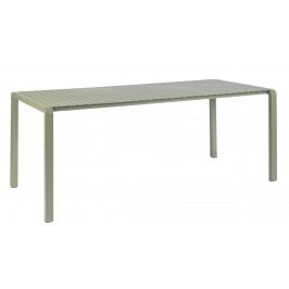 Zelený kovový zahradní jídelní stůl ZUIVER VONDEL 214 X 97 cm