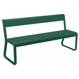 Tmavě zelená kovová lavice Fermob Bellevie