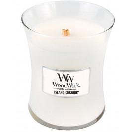 Střední vonná svíčka WoodWick, Island Coconut