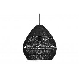 Hoorns Černé pletené závěsné světlo Adelaine 35 cm