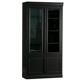 Hoorns Černá borovicová vitrína Abia 110 x 44 cm