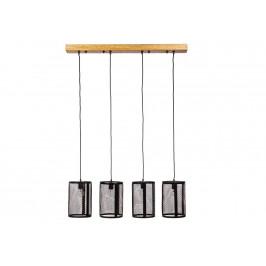 Černé drátěné závěsné světlo Bizzotto Jenifa 107 cm