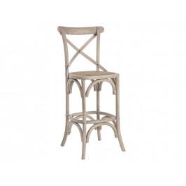 Přírodní dřevěná barová židle Bizzotto Gross 118 cm