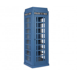 Modrá dřevěná knihovna Bizzotto Police box 60x180 cm