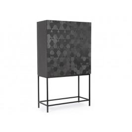 Černá dřevěná skříň Bizzotto Eulalia 90x40 cm