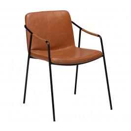 DAN-FORM Hnědá kožená jídelní židle DanForm Boto